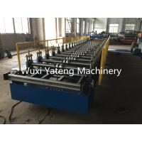 Colorful Steel Roof Panel Roll Forming Machine GI / SS Material 850mm Effective Width
