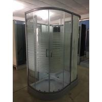 Cheap Horizontal Stripe 5m Door Thickness Tempered Glass Corner Shower Cabin 90 x 90 x for sale