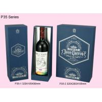 Quality Blue Paper Wine Box, Recyclable Single / Double Wine Packaging Boxes wholesale