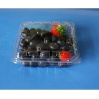 China Manufactury Disposable plastic fruit tray 150 grams punnet fruit packaging box blueberry packaging box on sale