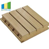 Quality Eco - Friendly Wooden Grooved Noise Reduction Wall Panels For Home Decorative wholesale