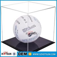 Acrylic Hat Boxes : Cheap acrylic football boot display case clear