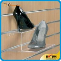 Quality High quality custom manufacture acrylic shoes rack,Popular transparent acrylic shoe display stand rack wholesale