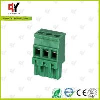 Quality Plug Type Connector Terminal Block Wire Range 28 - 12 AWG , Plug in Terminal Block wholesale