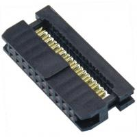 Quality WCON 2.54mm 2*10P Idc Socket PBT Black Connector Terminal One Side Contact wholesale
