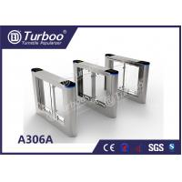 Quality Fast Speed Gate Turnstile / Office Security Gates Stainless Steel Frame wholesale