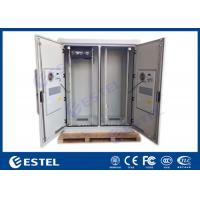 Quality Dual Bay IP55 Telecom Equipment Cabinete , Outdoor Power Enclosure With PDU Monitor wholesale