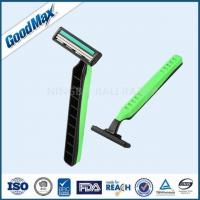 Quality Green / Black Twin Blade Disposable Razor Anti - Drag Blades For Face Body Underarm wholesale