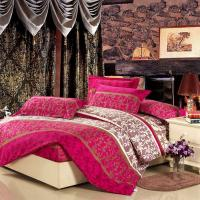 Quality Colorful Full Size 5 Piece Polyester Bed Set Embroidered Printed Plain Dyed wholesale