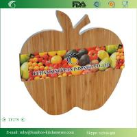 Quality TF279/ Cute Big Color Apple Fruit Shape Bamboo Cutting Chopping Board Serving Flat Knife P wholesale