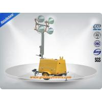Quality LED 9m Portable Trailer  Mobile Light Tower Diesel Generator  with Hand Push wholesale