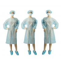 Quality Surgical Non Woven Garments PP PE Coated XXL Full Length Custom Color wholesale