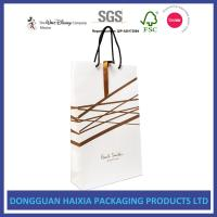 Quality Gold Hot Stamping Kraft Paper Bags , Paper Gift Bags With Handles HEIDEL wholesale