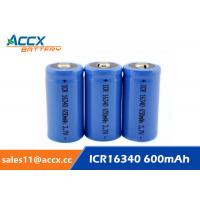 Quality 16340 650mAh 3.7V li-ion battery / cylindrical rechargeable battery for LED flashlight wholesale