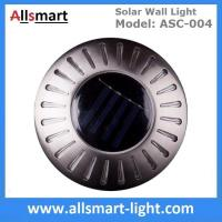 Quality UFO Round Solar Wall Lights RGB Solar Inderground Lamp Solar Pathway Lawn Light Solar Dock Deck Light Solar Stair Light wholesale