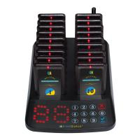 China Fast food restaurant wireless guest call system pager vibrator on sale