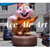 Quality giant 15 feet lovely inflatable squirrel with base and a big tail for advertising wholesale