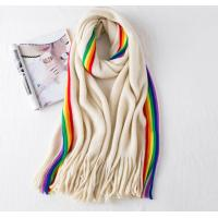Quality Soft Material Winter Knitted Scarf Acrylic / Wool Material Warm For Men / Women wholesale