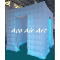 Quality new attractive cube led inflatable portable photo booth kiosk for wedding party wholesale