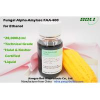 Quality 28000 U / ML  Fungal Alpha Amylase FAA - 400 , Biological Enzymes For Production Ethanol wholesale
