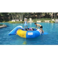 Buy cheap 0.7mm Inflatable Water Trampoline Combo With Slide from wholesalers