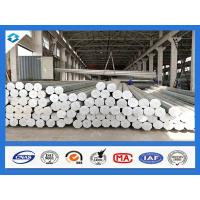 Quality 35FT 3mm Thick Q345 500KGF Load Galvanized Electric Steel Poles wholesale