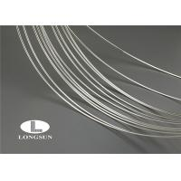 Soft Silver Plated Wire For Electrical Contacts / Nickel Plated Wire High Arc Erosion Resistance