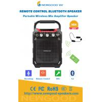 Quality Remote Control Portable Wireless Bluetooth Speaker with UHF Wireless Megaphone MIC Recording 3.5mm 6.5mm Handle wholesale