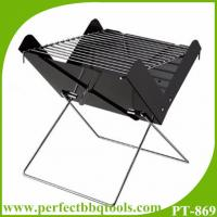 China Folding charcoal BBQ grill portable grill colorful charcoal barbecue grill on sale