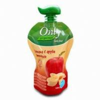 Quality Apple Juice Spout Pouch Packaging 50 Microns -200 Microns With CMYK Printing wholesale