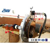 China Pneumatic Pipe Cutting And Beveling Machine Split OD Mount for Stainless Steel Pipe on sale