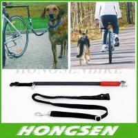 China HS-D01 Running retractable China dog training bike leash walking bike dog leashes on sale