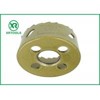 Cheap Gold Round Bi Metal Hole Saw , HSS M42 Carbide Tipped Hole Saw With Built for sale