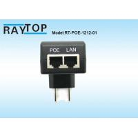 Cheap 12v 1a POE Power Adapter / Switch Power Supply EU Plug Over Current Protection for sale