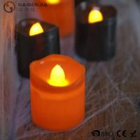 Quality Black Orange Plastic Halloween LED Tea Light Candles 6 Set RoHS wholesale