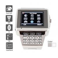 Buy cheap Premiere - Dual SIM Quadband Stainless Steel Cell Phone Watch (WiFi, JAVA, MP3 ) from wholesalers