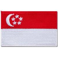 Quality 100% cotton national embroidered flag patches, stick-on, sew-on and plastic backing wholesale