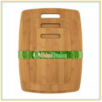 China Carbonized Bamboo Cutting Board Set with 3 Pieces, can be customize on sale