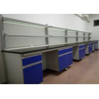 Buy cheap Wooden Lab Bench Furniture Customized Size With Anti Corrosion Handles from wholesalers