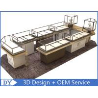 Quality Custom Shopping Mall Jewelry Display Counter / Shop Display Cabinets wholesale