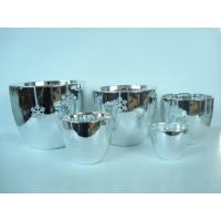 Quality Silver Electroplated Ceramic Flower Pots For Plants Indoor 15.1 X 15.1 X 14.5 Cm wholesale