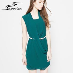 Quality Simple Collar Design Women Fashion Dress OEM / ODM Pattern Designed Free Samples wholesale