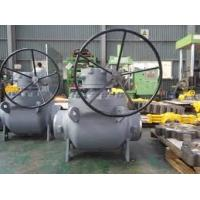China Top Entry Flanged Stainless Steel Ball Valves , 150lb Gear Operated Ball Valve on sale