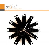 Quality Black Plastic Round Acrylic Decorative Wall Clock / Large Digital Wall Clocks wholesale