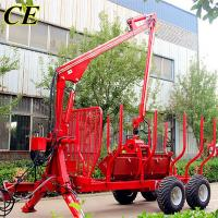 Quality 3 Tons Forestry Trailer with Crane / Atv Timber Trailer /Log Loading Trailers wholesale