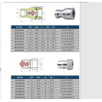82 SERIES, HYDRAULIC QUICK COUPLING (CARBON STEEL) ISO-7241-B, POPPET VALVE