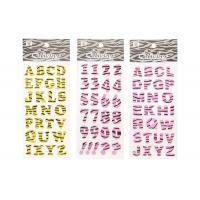 Quality Glitter Letter Alphabet Kids Sticker Printing Surface High Glossy wholesale