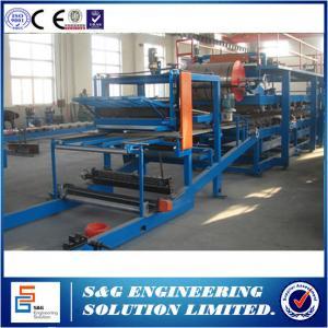 Quality 250KW Polyurethane Sandwich Panel Machine , 0.3 - 0.8mm Steel Sheet Roll Forming Machine wholesale