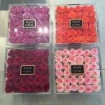 Quality Beautiful transparent acrylic flower box,custom made display acrylic flower box wholesale
