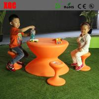 China Lightweight  Drum Shape Designed Plastic Outdoor Furniture Set For Kids Playing on sale